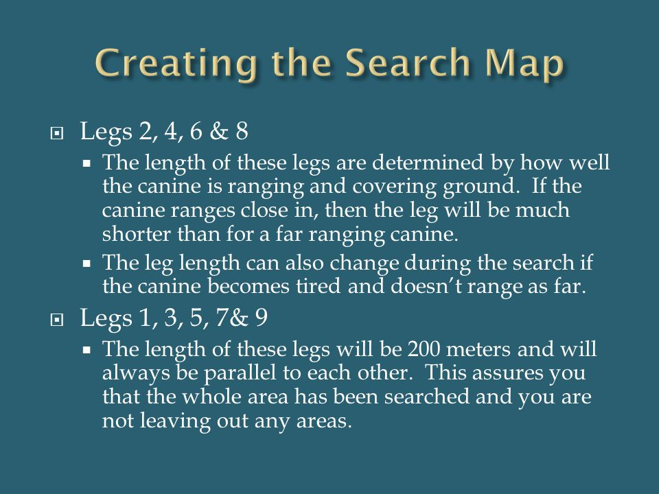 Creating the Search Map