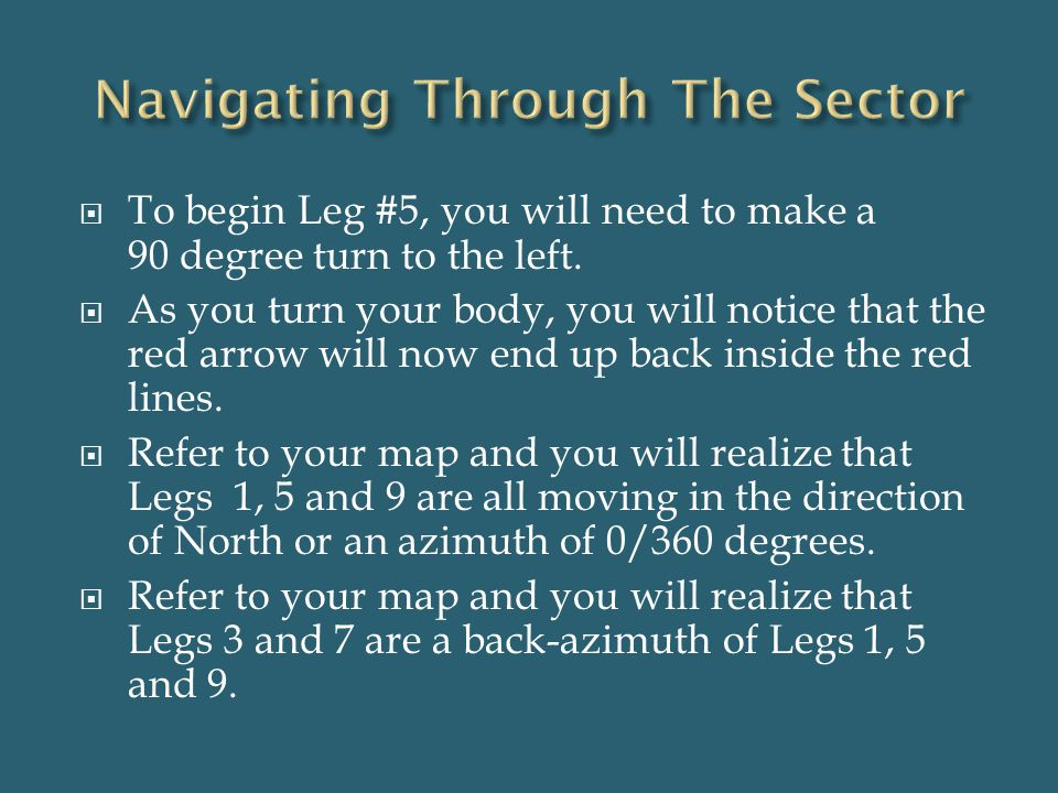 Navigating Through The Sector