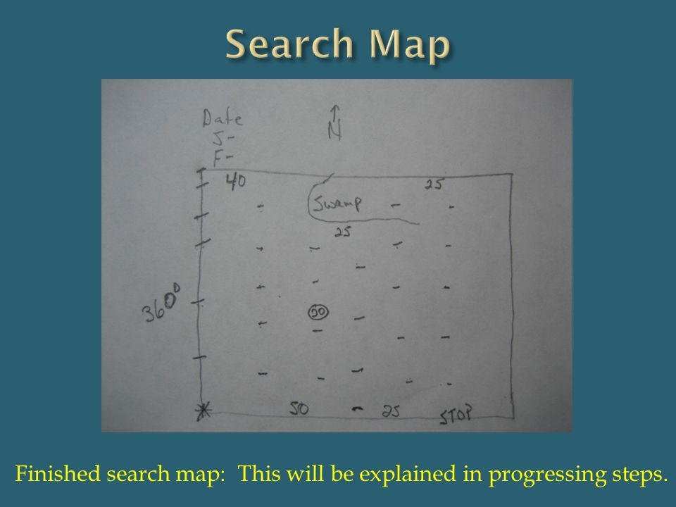 Search Map Finished search map: This will be explained in progressing steps.