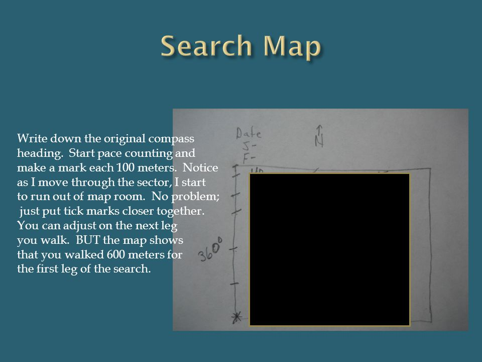 Search Map Write down the original compass