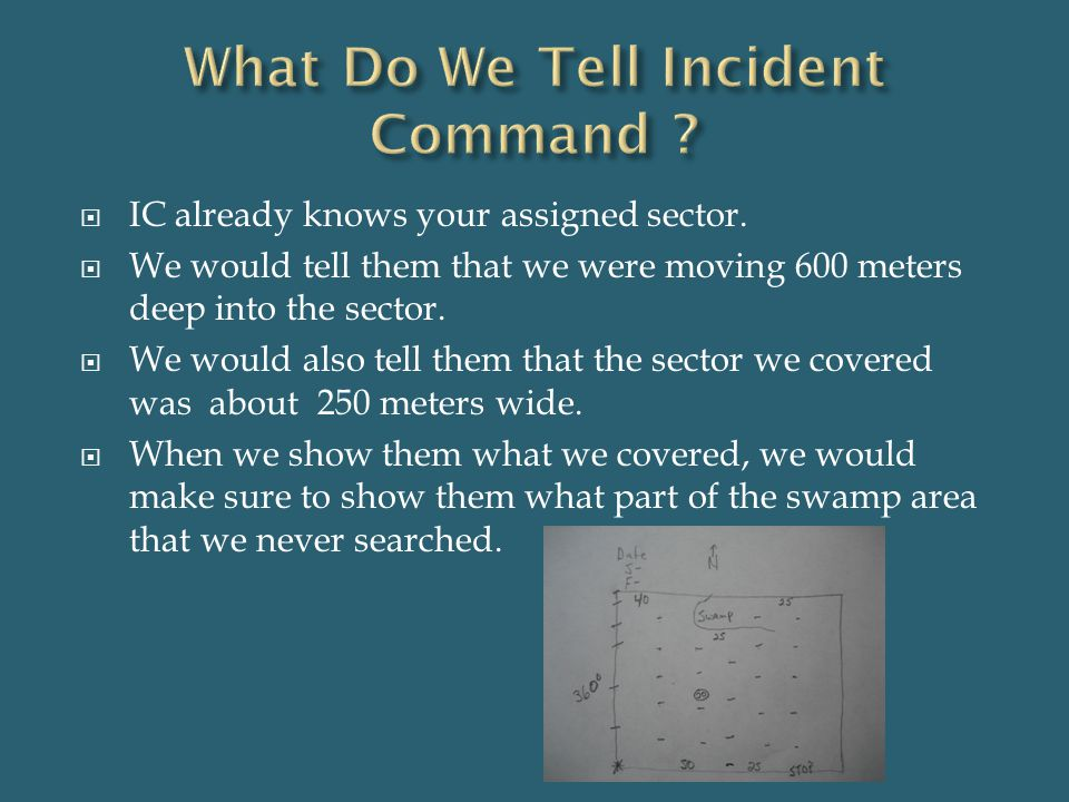What Do We Tell Incident Command