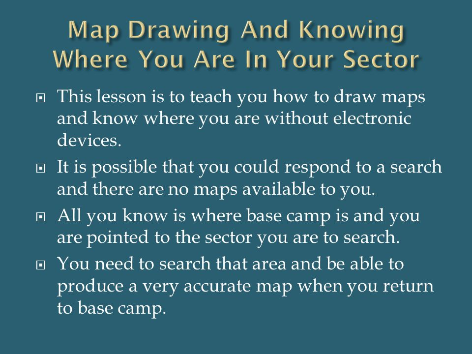 Map Drawing And Knowing Where You Are In Your Sector