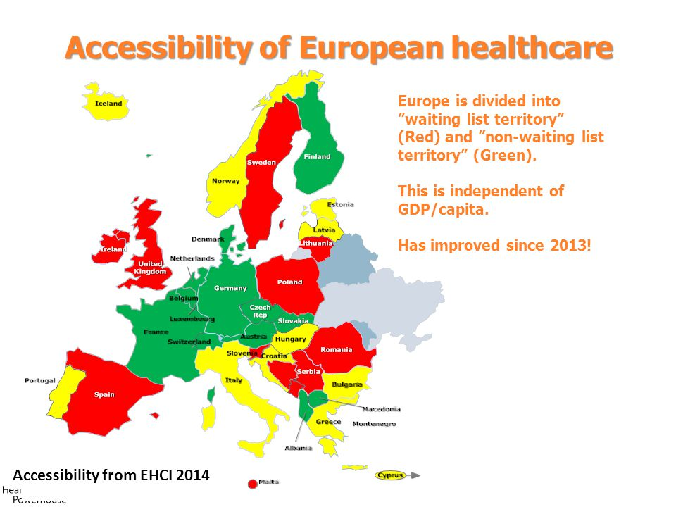 Accessibility of European healthcare