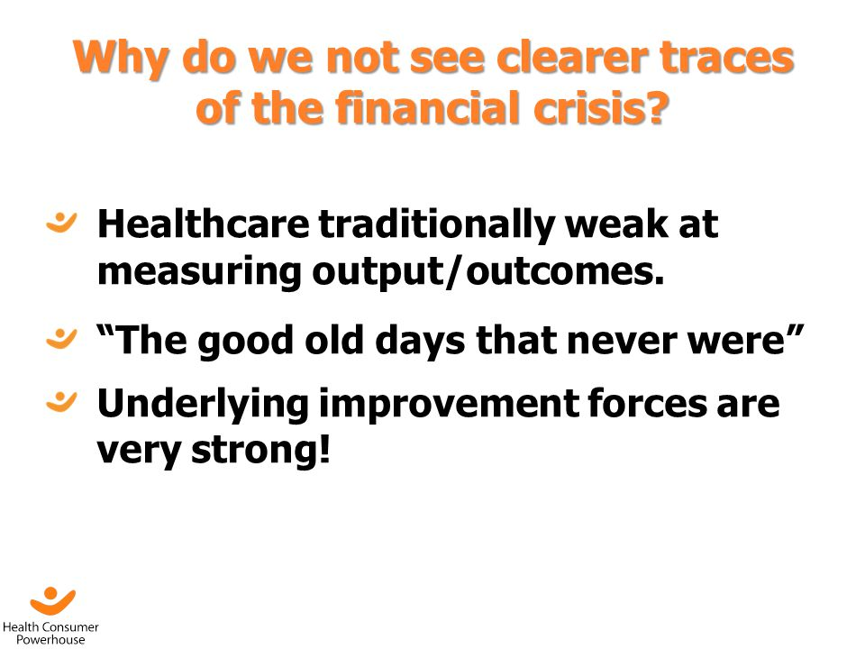 Why do we not see clearer traces of the financial crisis