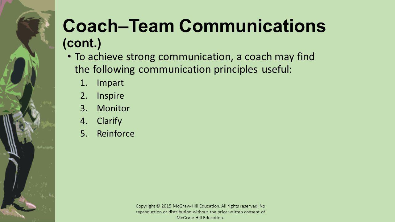 Coach–Team Communications (cont.)