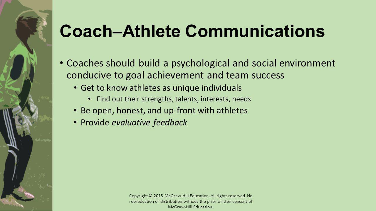 Coach–Athlete Communications