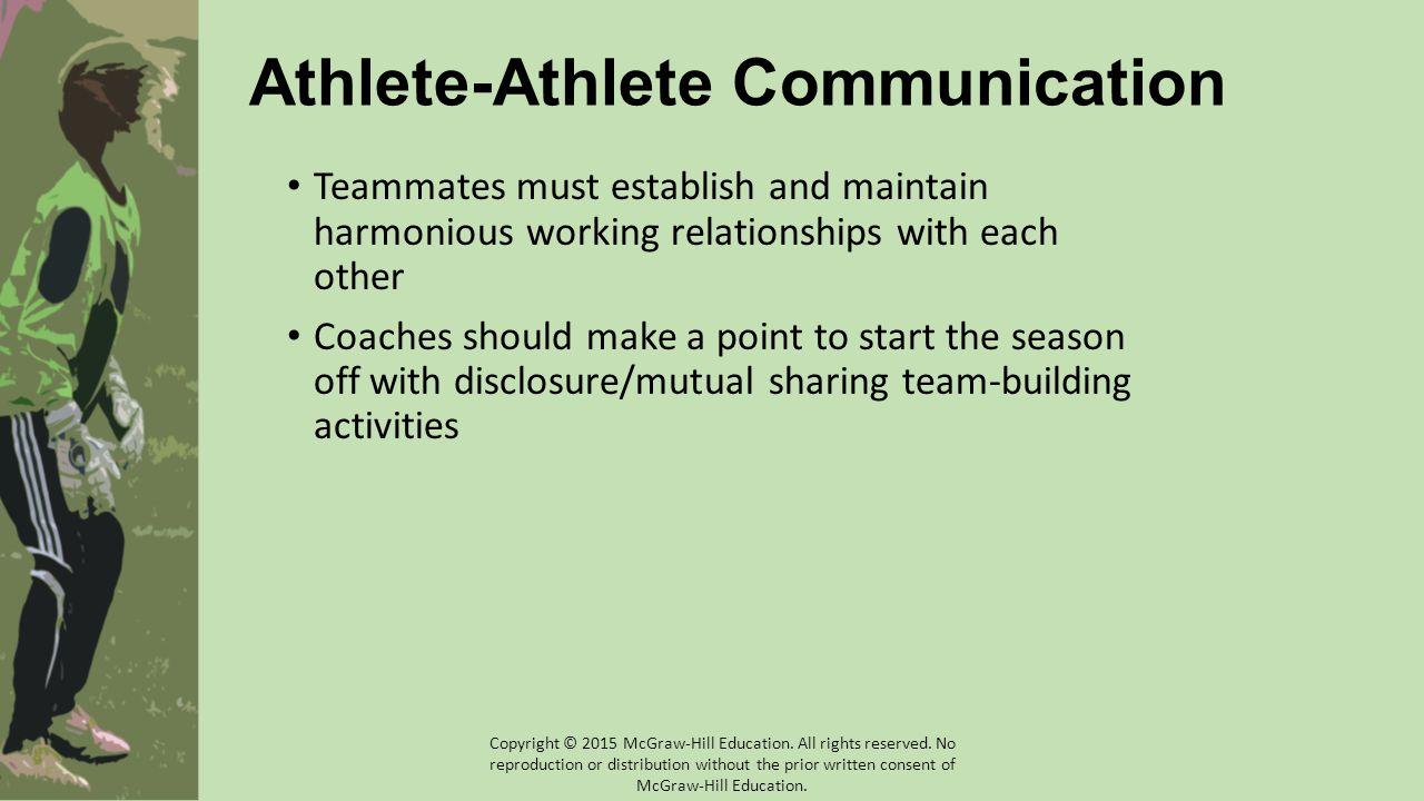 Athlete-Athlete Communication
