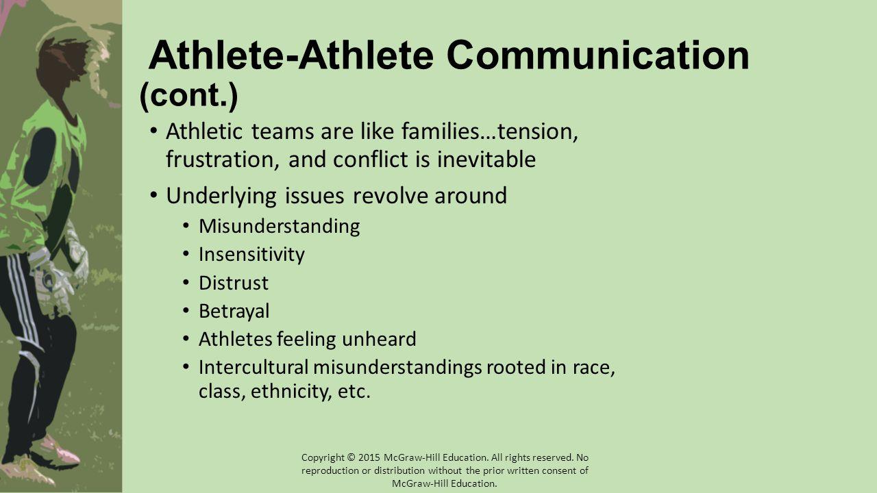 Athlete-Athlete Communication (cont.)