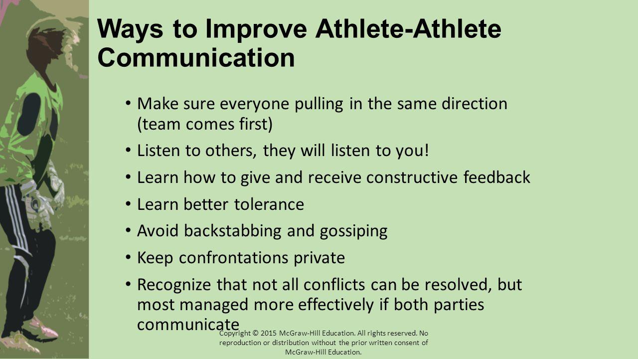 Ways to Improve Athlete-Athlete Communication