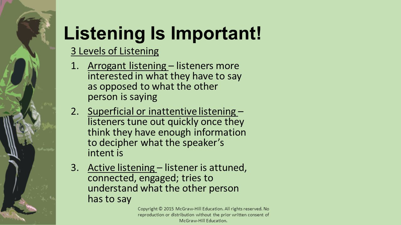 Listening Is Important!