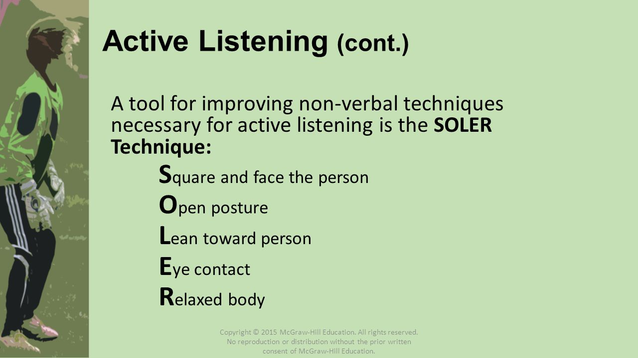 Active Listening (cont.)