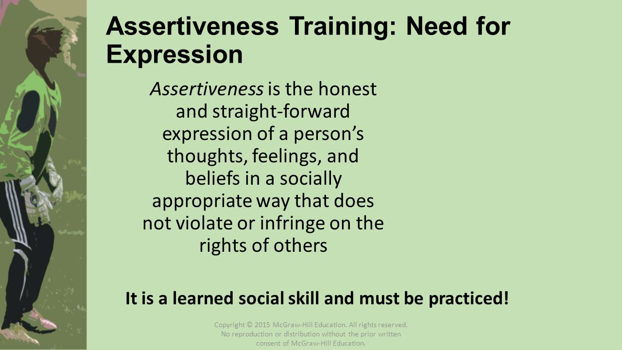 Assertiveness Training: Need for Expression