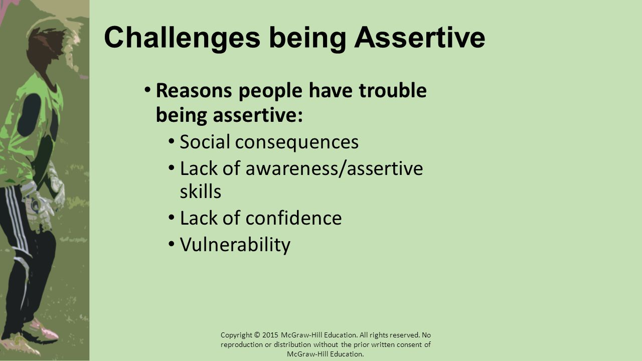 Challenges being Assertive