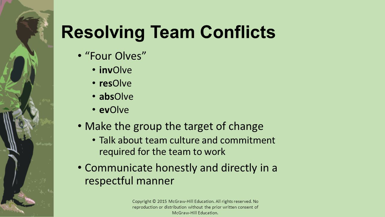 Resolving Team Conflicts