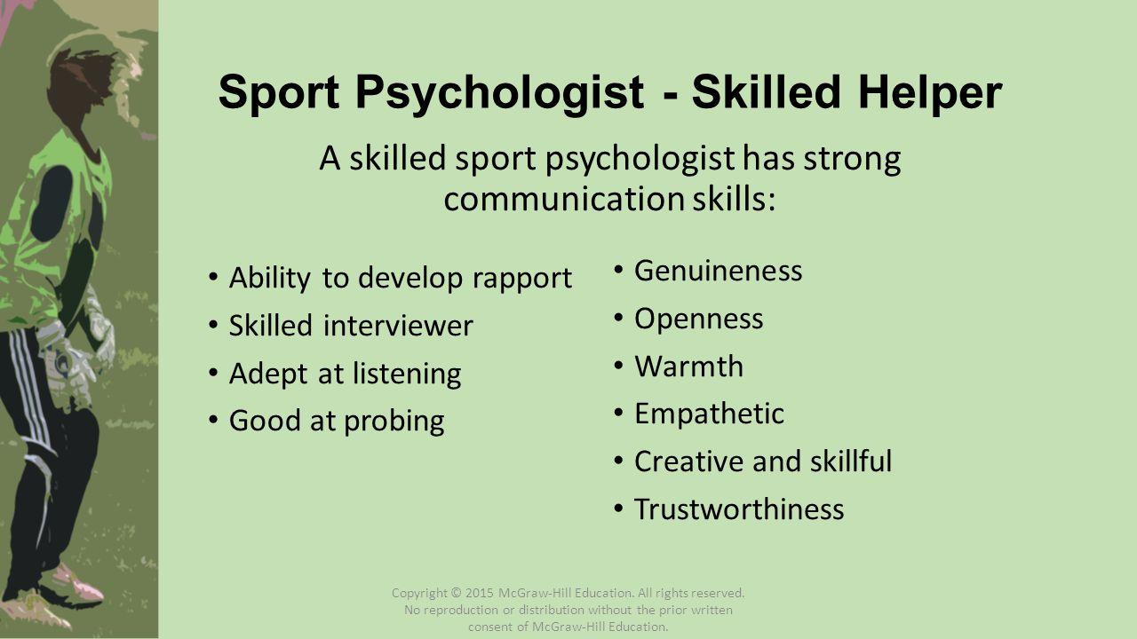 Sport Psychologist - Skilled Helper