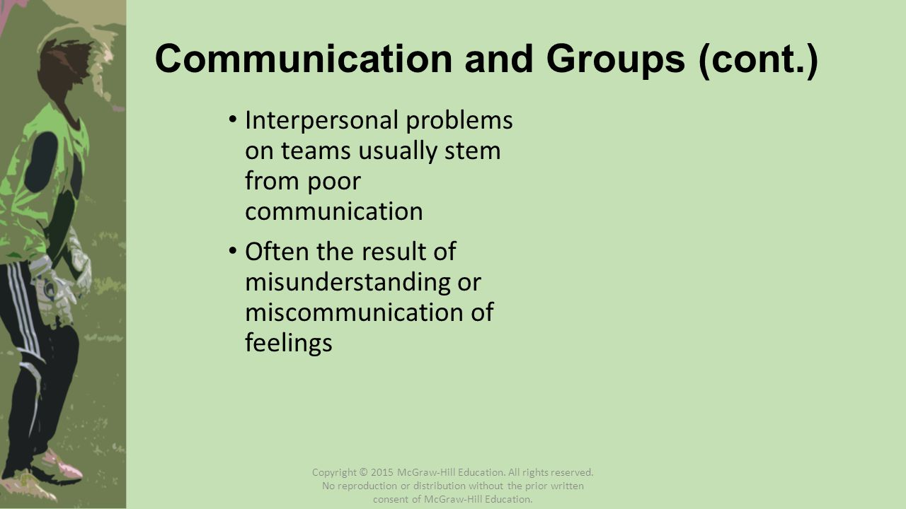 Communication and Groups (cont.)