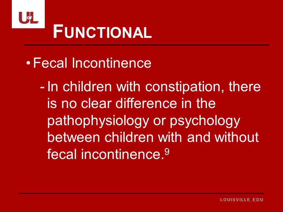 Functional Fecal Incontinence