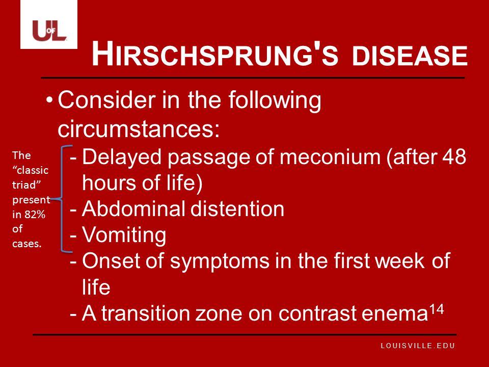 Hirschsprung s disease