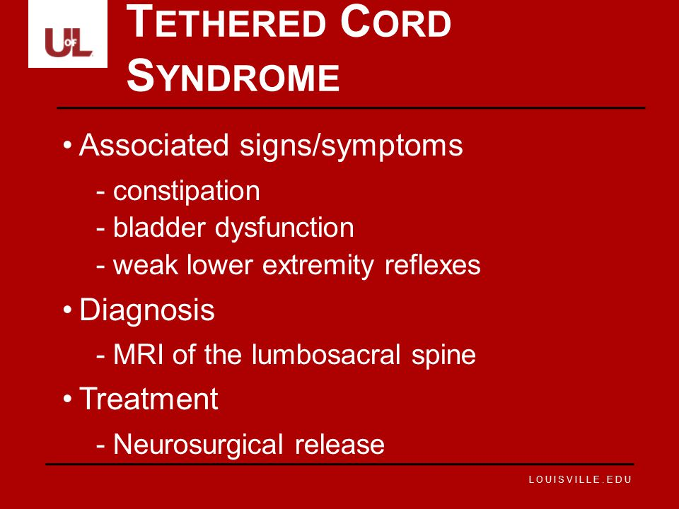 Tethered Cord Syndrome
