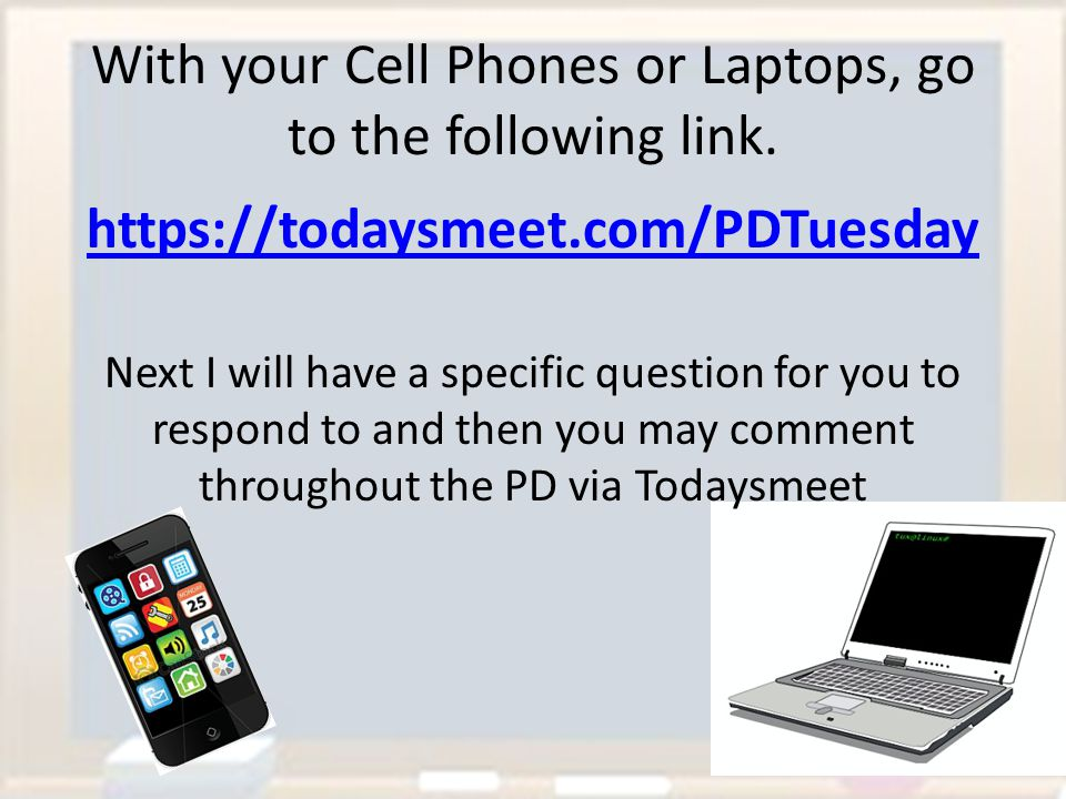 With your Cell Phones or Laptops, go to the following link.