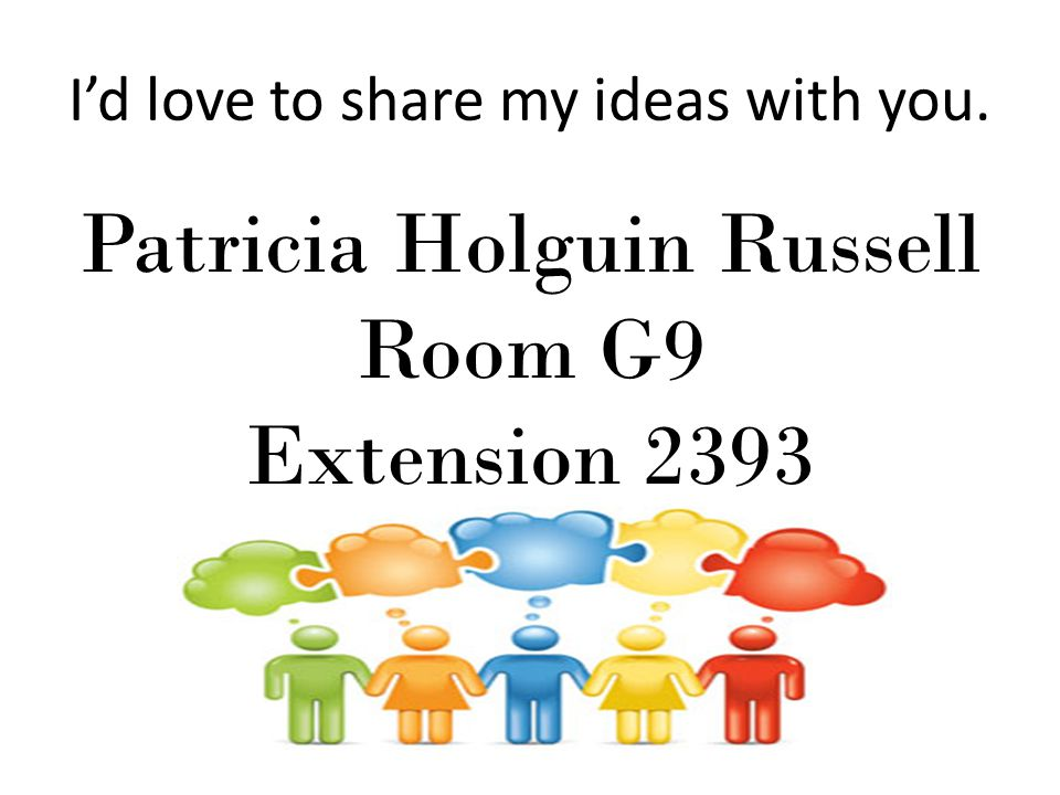 I'd love to share my ideas with you.