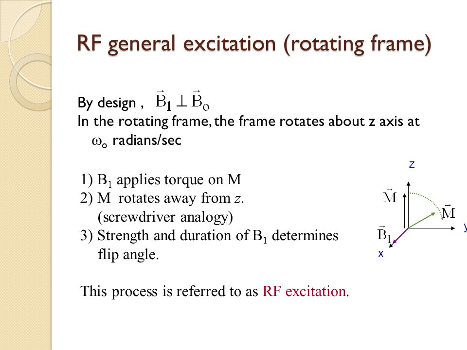 RF general excitation (rotating frame)