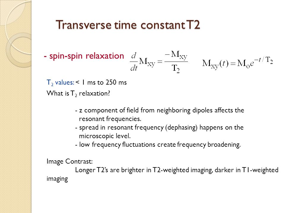Transverse time constant T2