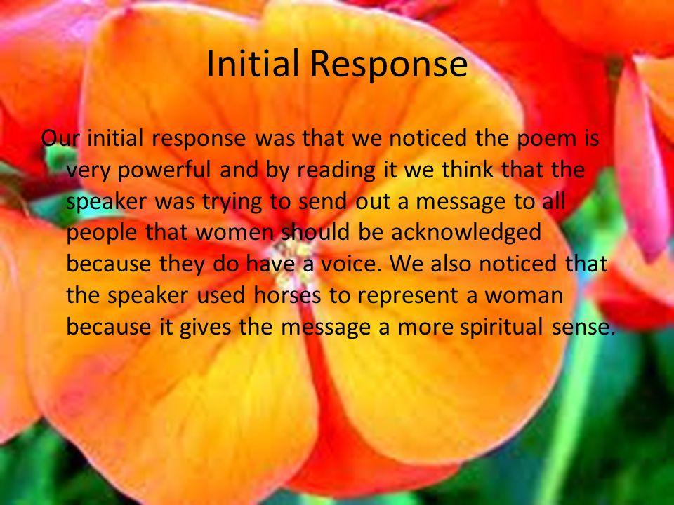 Initial Response