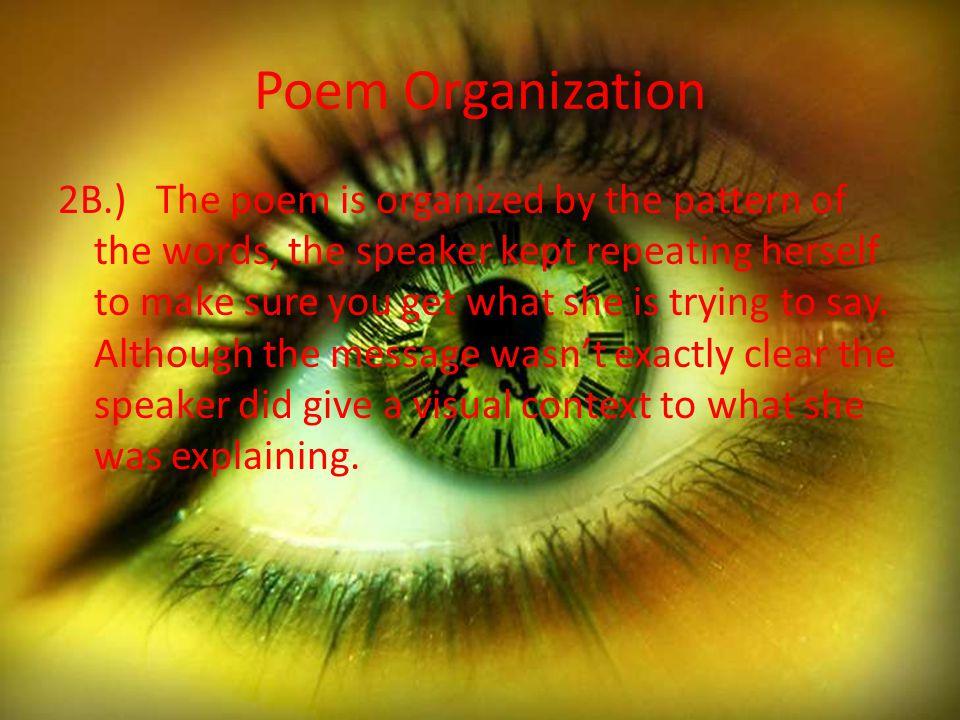 Poem Organization