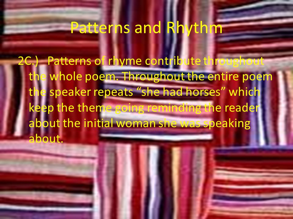 Patterns and Rhythm