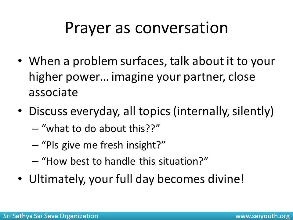 Prayer as conversation
