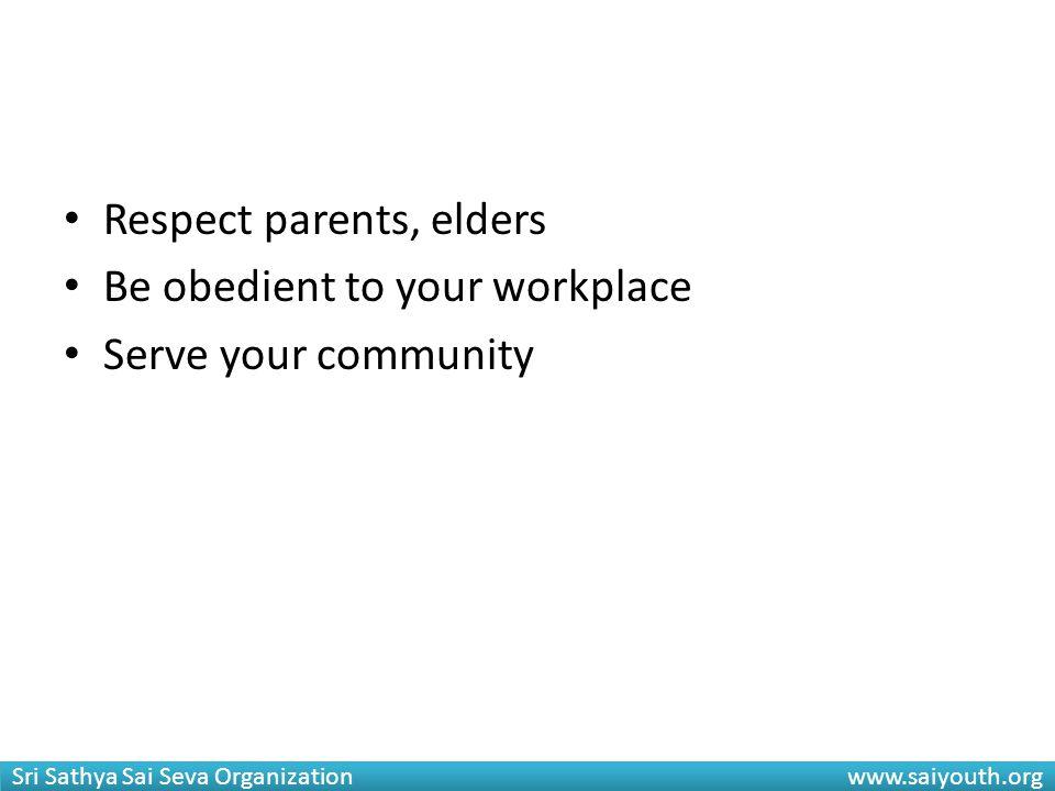 Respect parents, elders