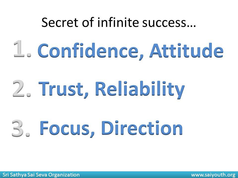 Secret of infinite success…