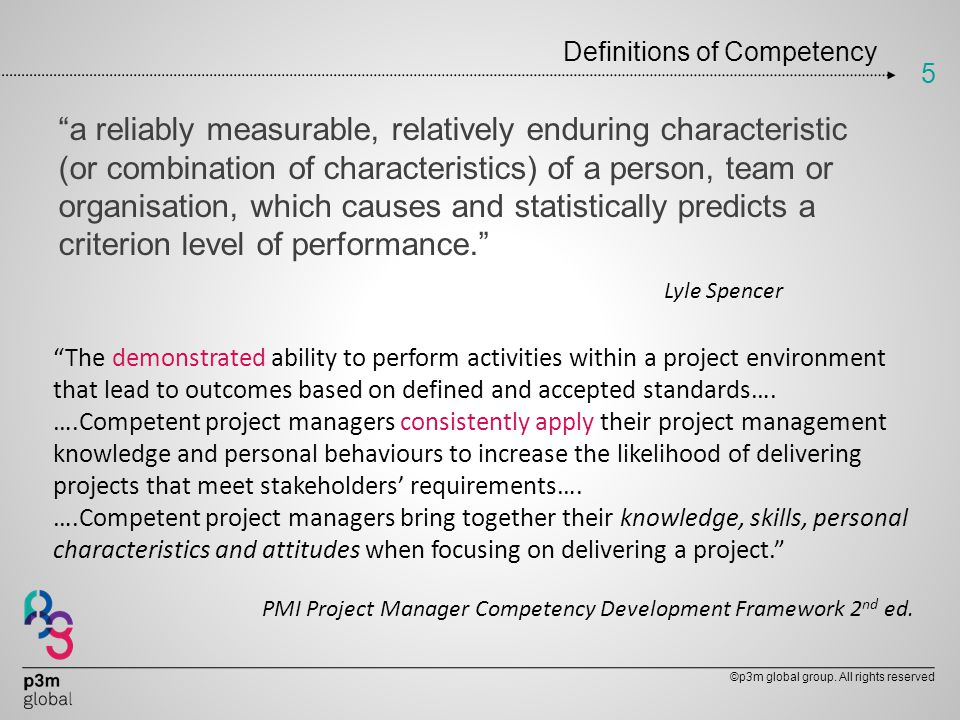 Definitions of Competency