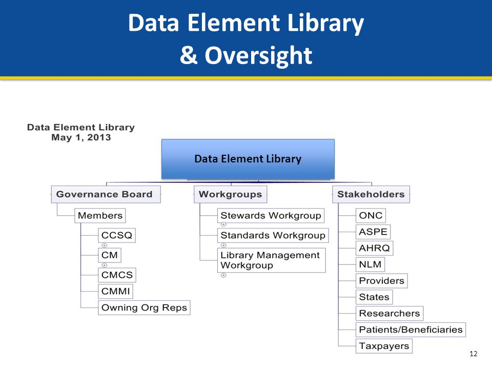 Data Element Library & Oversight