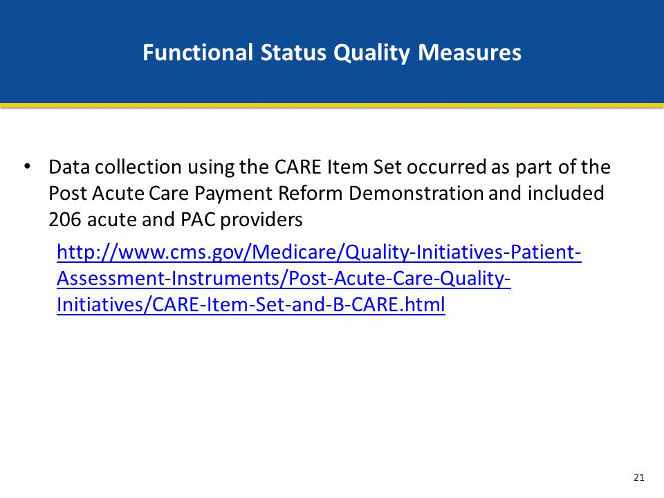 Functional Status Quality Measures