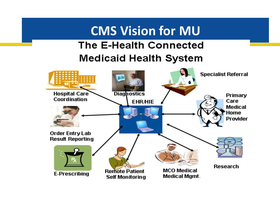 CMS Vision for MU Systems Needs : Measures Standards Trained Providers