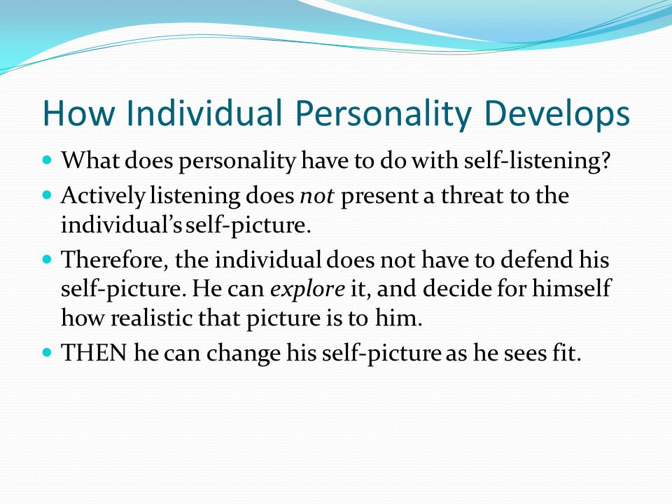 How Individual Personality Develops