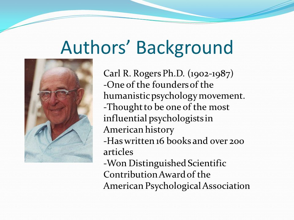 contribution of carl rogers in curriculum In curriculum planning, perhaps one needs to ask  evoke what carl rogers  calls    a quality of personal  contribute their ideas for improving the curricu.