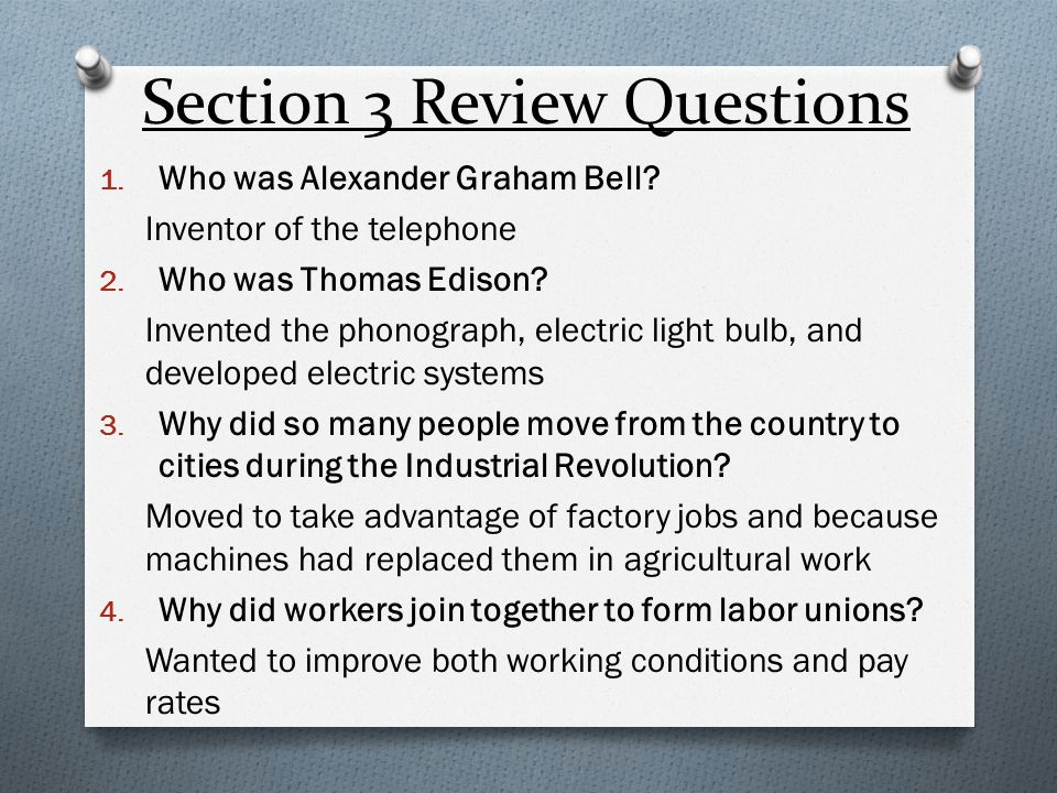 Section 3 Review Questions