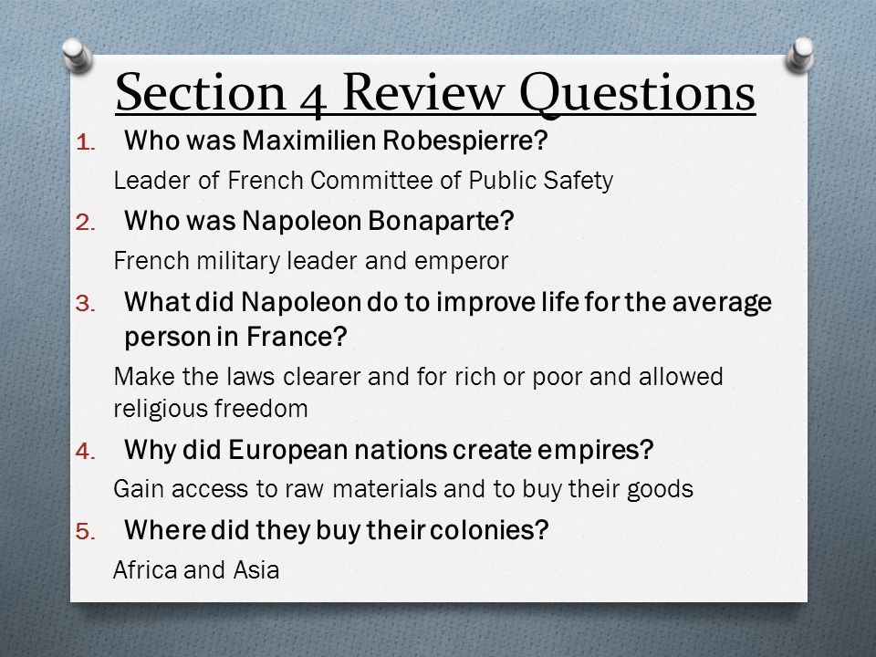 Section 4 Review Questions