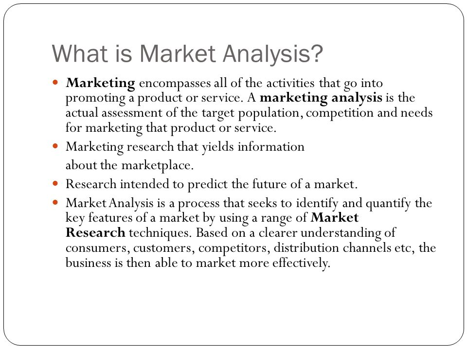 What is Market Analysis