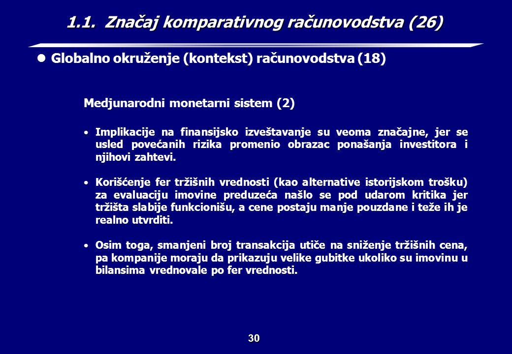 1.1. Značaj komparativnog računovodstva (27)