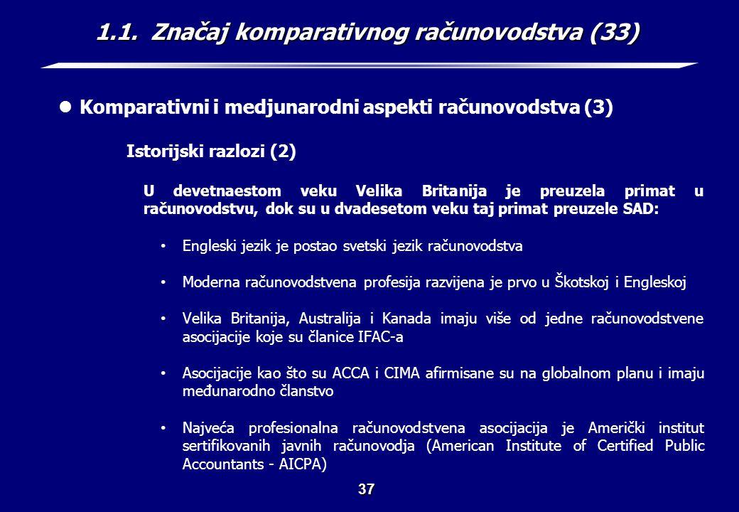 1.1. Značaj komparativnog računovodstva (34)