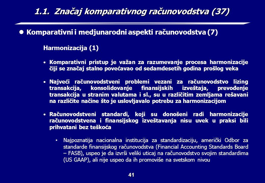 1.1. Značaj komparativnog računovodstva (38)