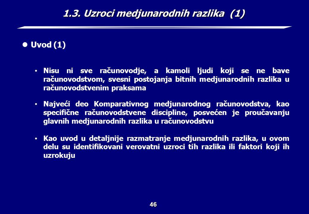1.3. Uzroci medjunarodnih razlika (2)