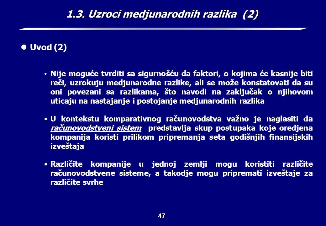 1.3. Uzroci medjunarodnih razlika (3)