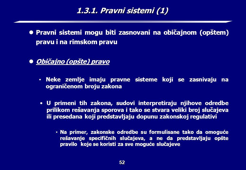 1.3.1. Pravni sistemi (2) Običajno (opšte) pravo
