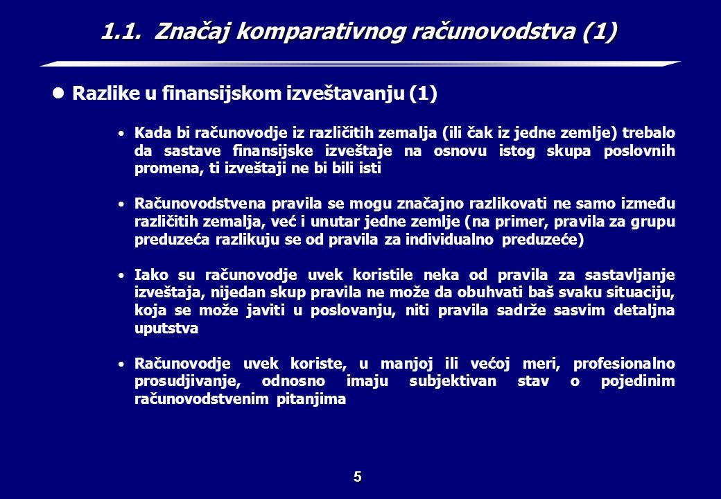 1.1. Značaj komparativnog računovodstva (2)