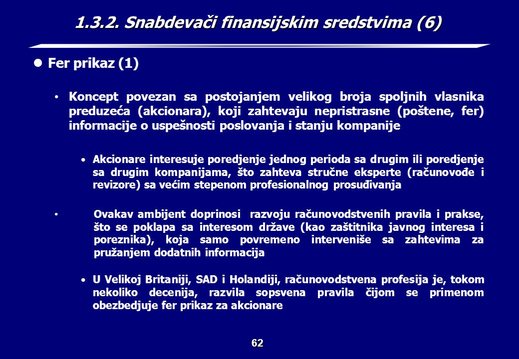 1.3.2. Snabdevači finansijskim sredstvima (7)
